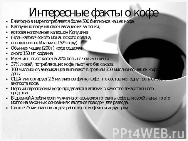 Интересные факты о кофе: история, использование в медицине