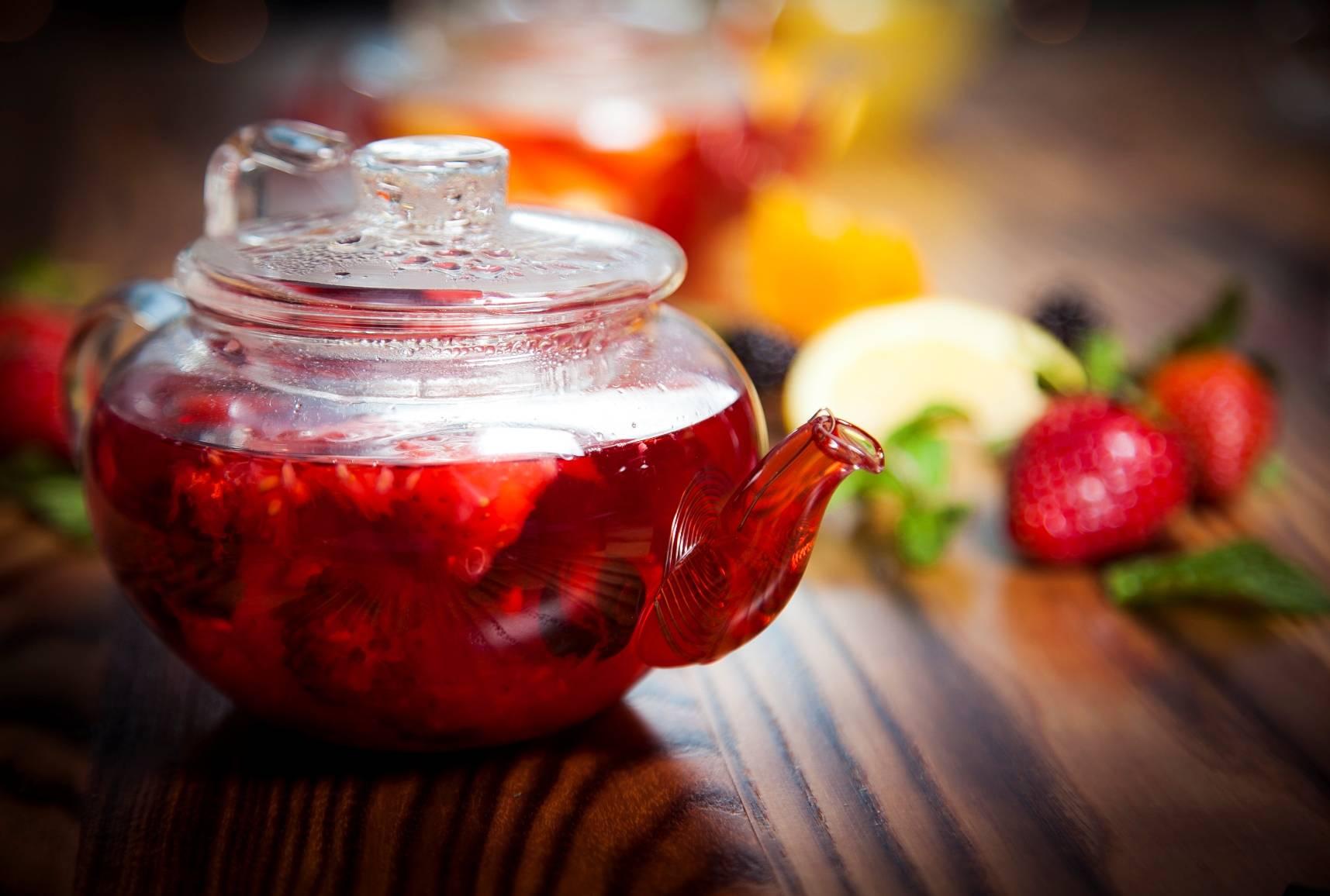 Рецпты чая из ягод
