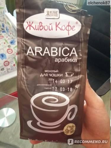 Молотый кофе для заваривания в чашке