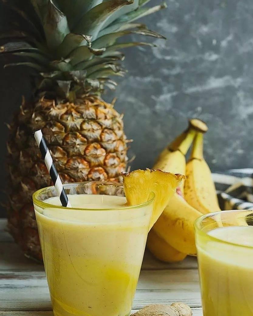 Рецепты смузи с ананасом — от простых до изысканных