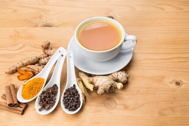 Золотой рецепт из куркумы, молока, имбиря для похудения и суставов