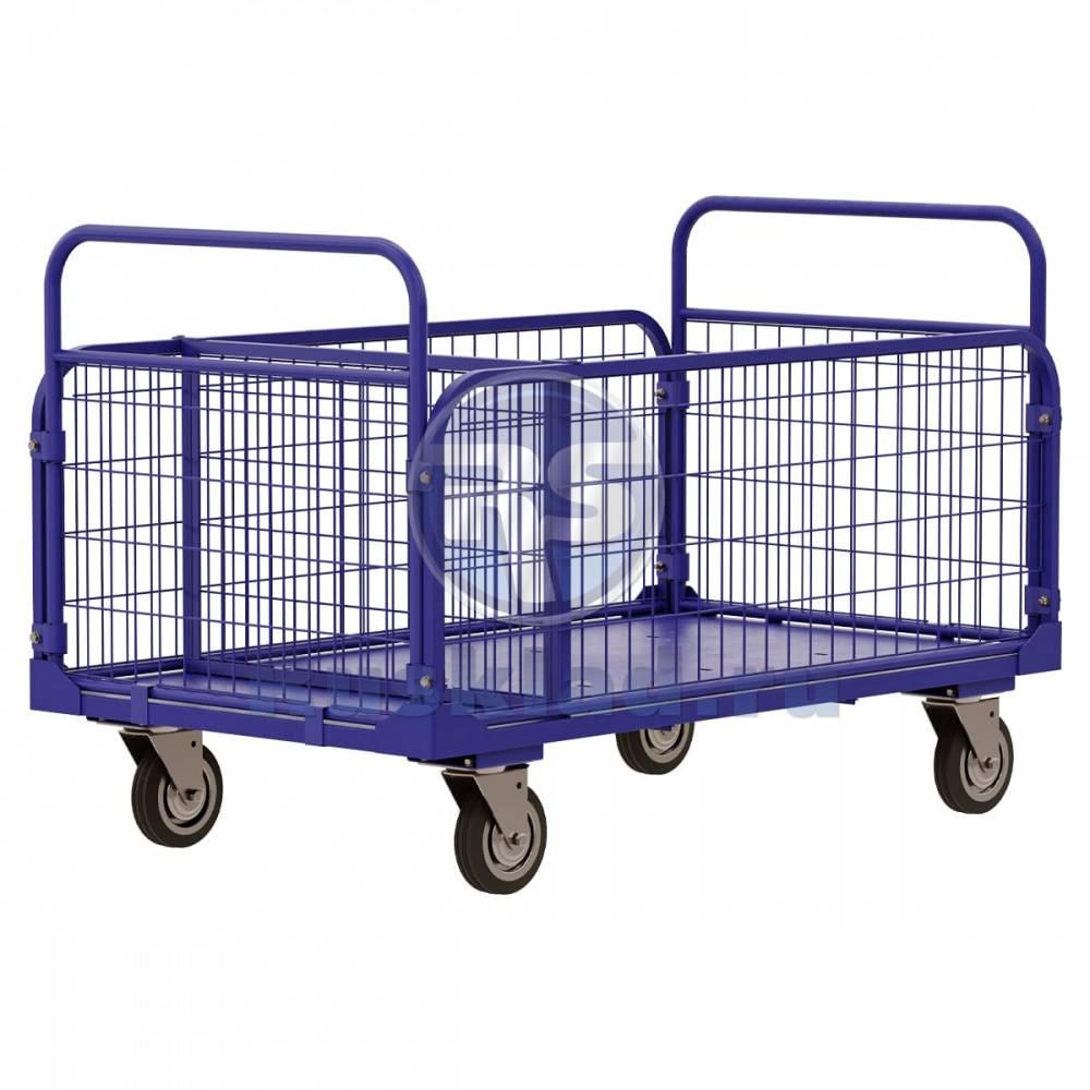 Тележка платформенная для перевозки, транспортировки и перемещения грузов, виды погрузочных телег