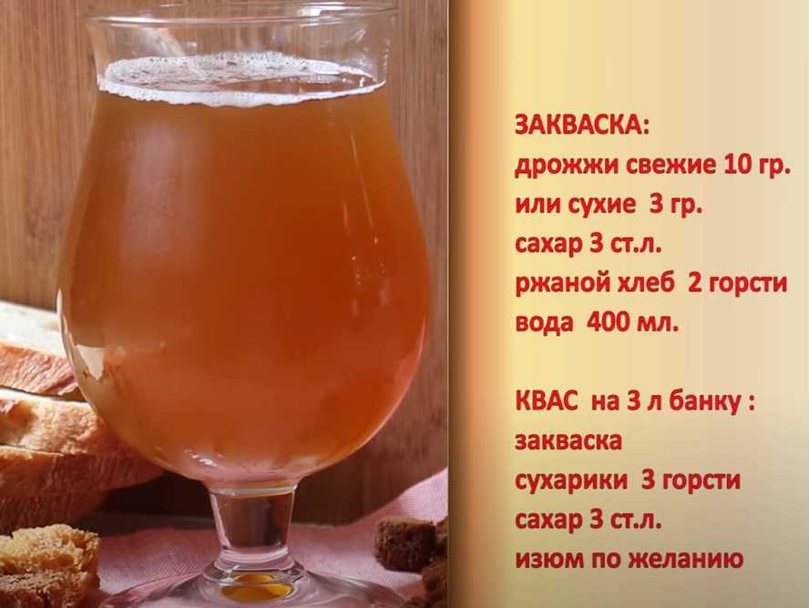 Квас хлебный с дрожжами рецепт с фото пошагово - 1000.menu