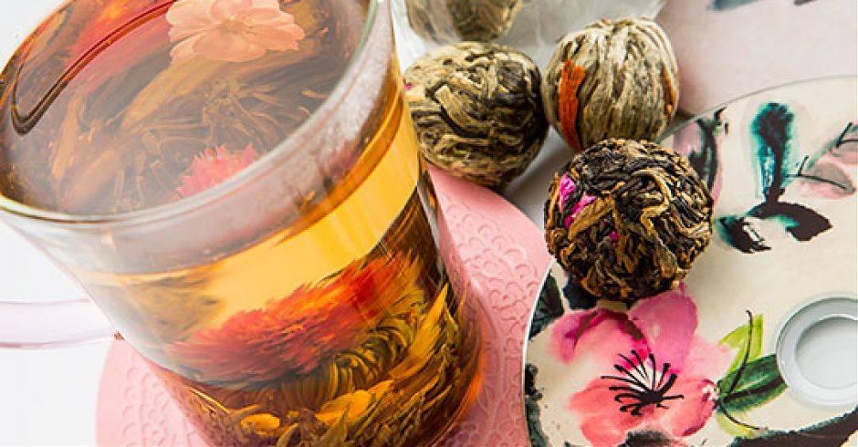 Китайский связанный чай с цветами: виды и описание, китайский чай цветок как заваривать