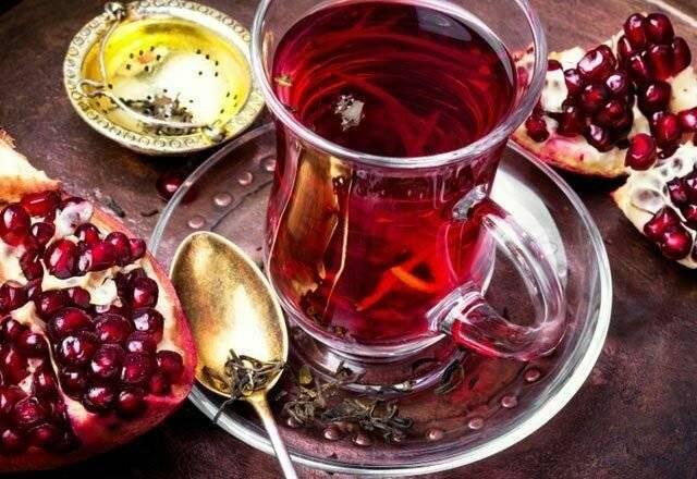 Гранатовый чай из турции — польза и вред, как заваривать ☕