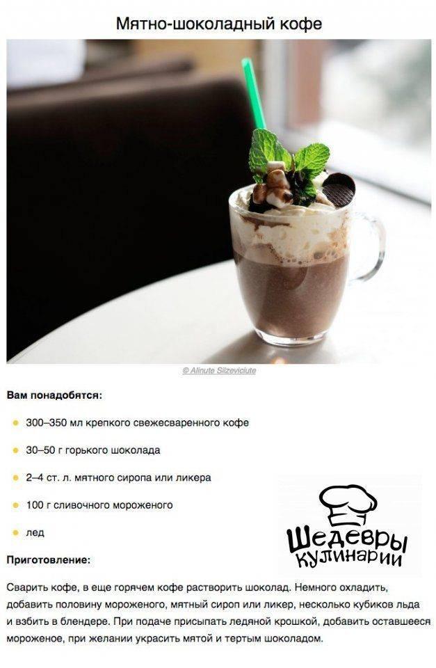 Кофе с мятой - тонкий вкус ментола