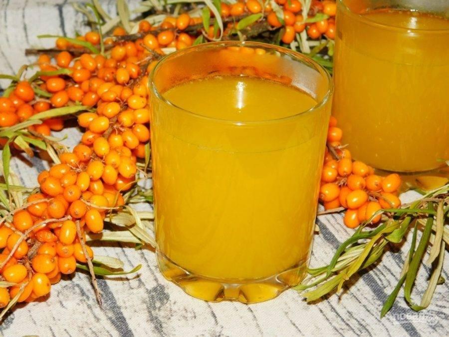 Напитки из ягод облепихи:рецепты в домашних условиях