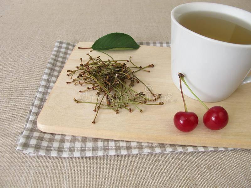 Целебный чай из листьев вишни, польза и вред