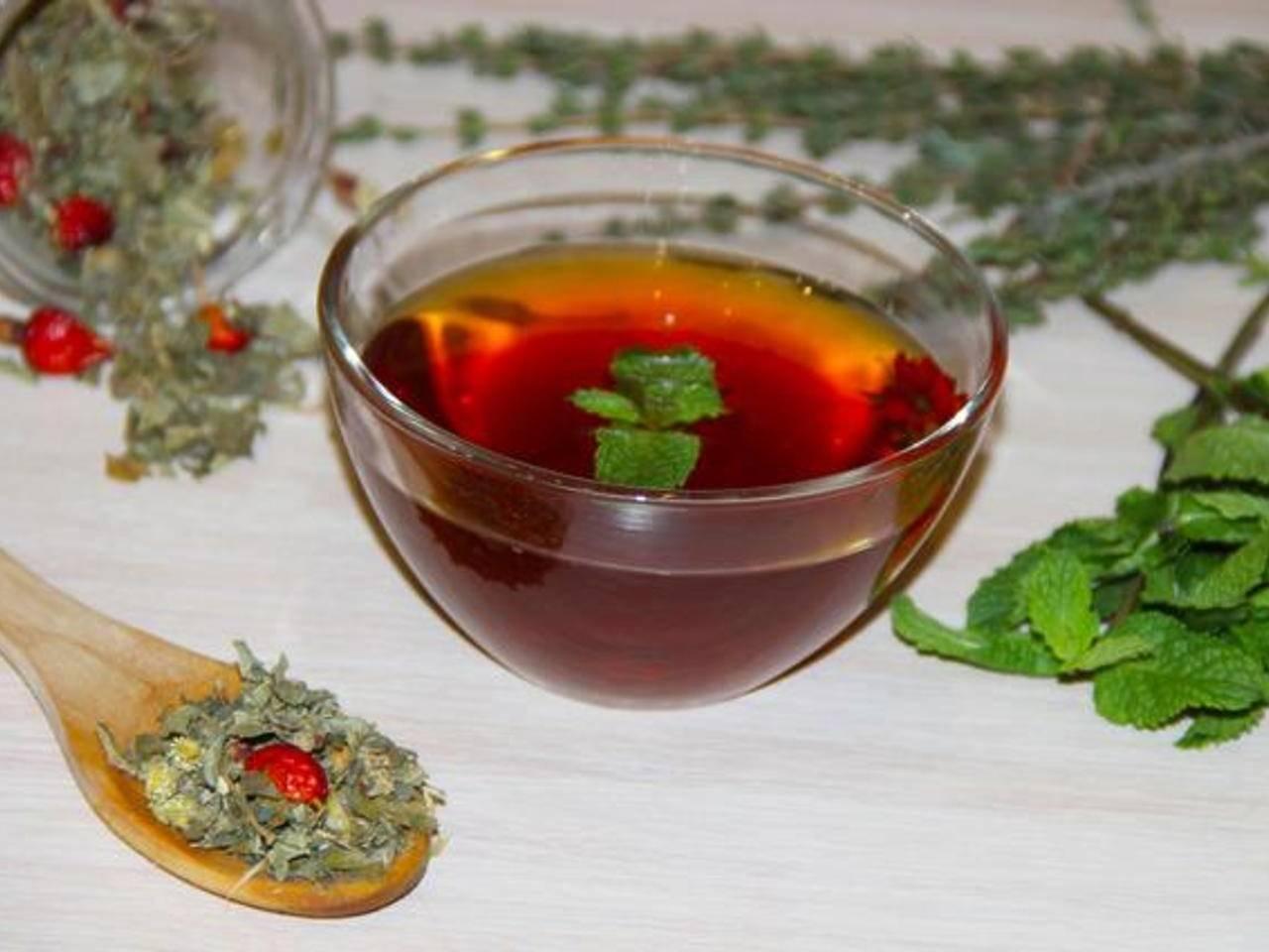 Витаминный чай из трав - простые пошаговые рецепты с фотографиями
