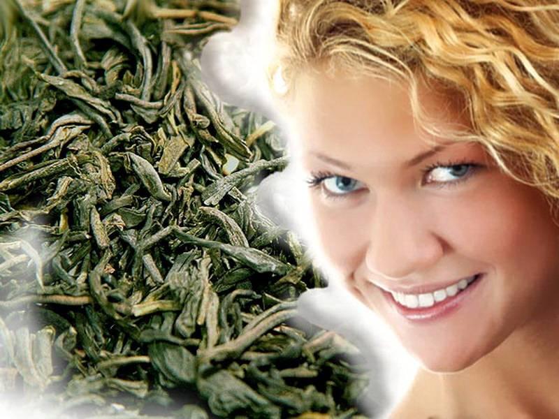 Примочки из зеленого чая для глаз