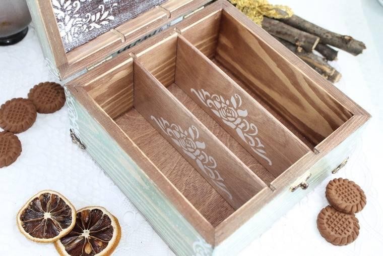 Коробка для чайных пакетиков, изготовление деревянной шкатулки для чая