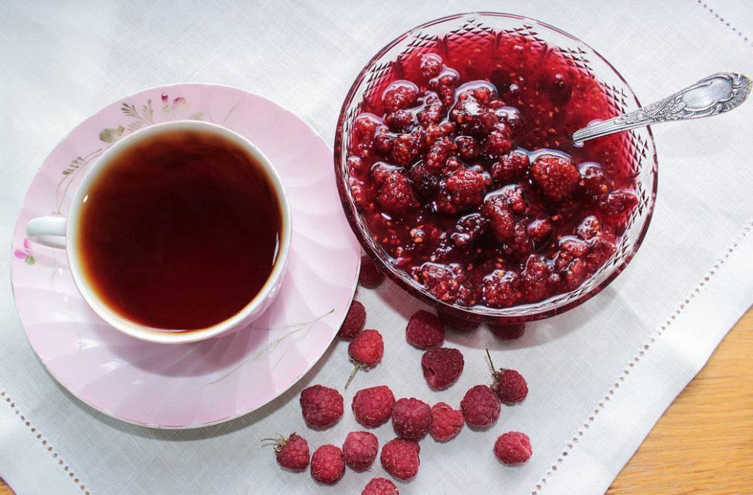 Чай с малиной: польза и вред малинового чая, как заваривать при температуре и простуде