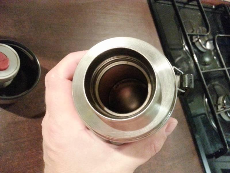 Как отмыть термос от чайного налета
