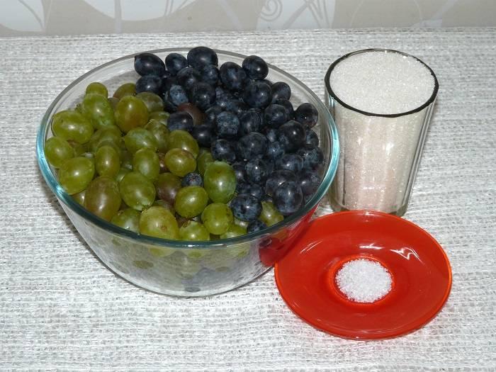 Компот из винограда на зиму - 5 рецептов на 3 литровую банку