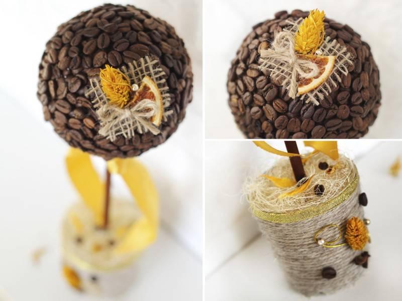 Бонсай топиарий ёлка мастер-класс моделирование конструирование кофейный топиарий мастер класс кофе