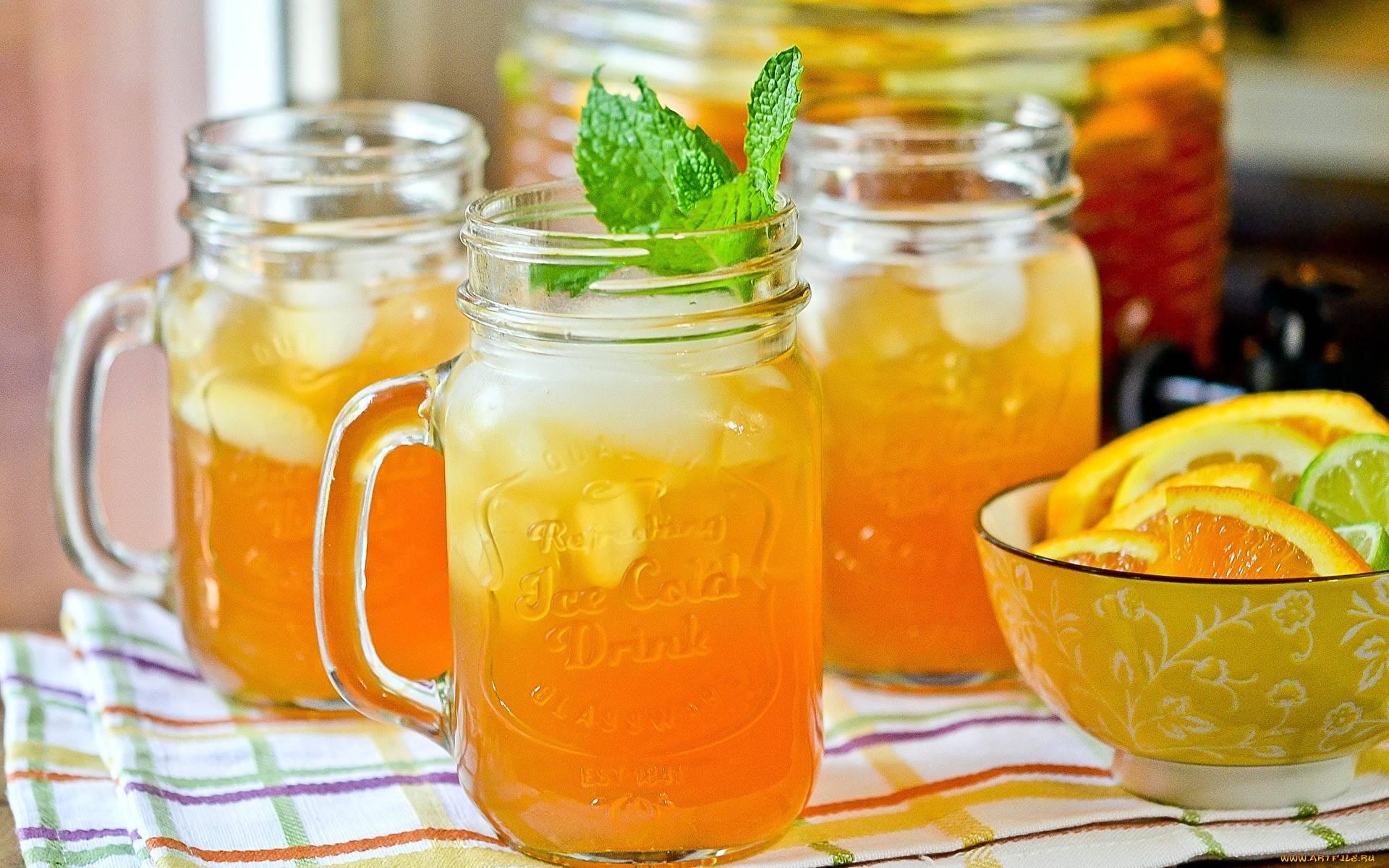 О приготовлении яблочного чая с апельсином и корицей