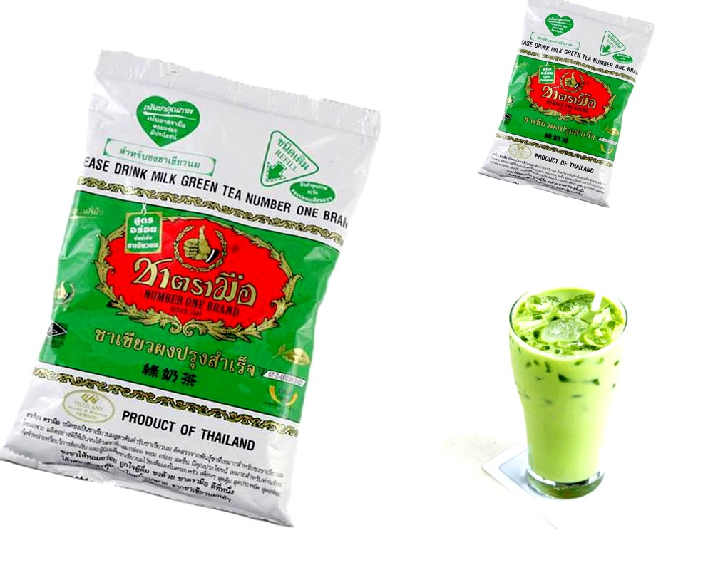 Тайский зеленый молочный чай, чай изумрудного цвета из тайланда